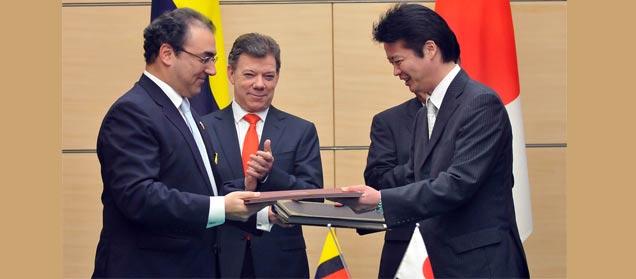 Ministro de Comercio de Japón visita a Colombia