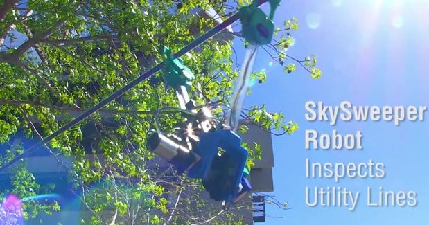 Robot para inspeccionar líneas eléctricas de alta tensión