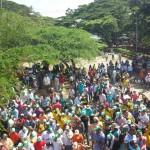 Plantón en la Represa del Incora por parte del Comité Pro-Embalse del Cinera. Asistencia de más de 5.000 personas